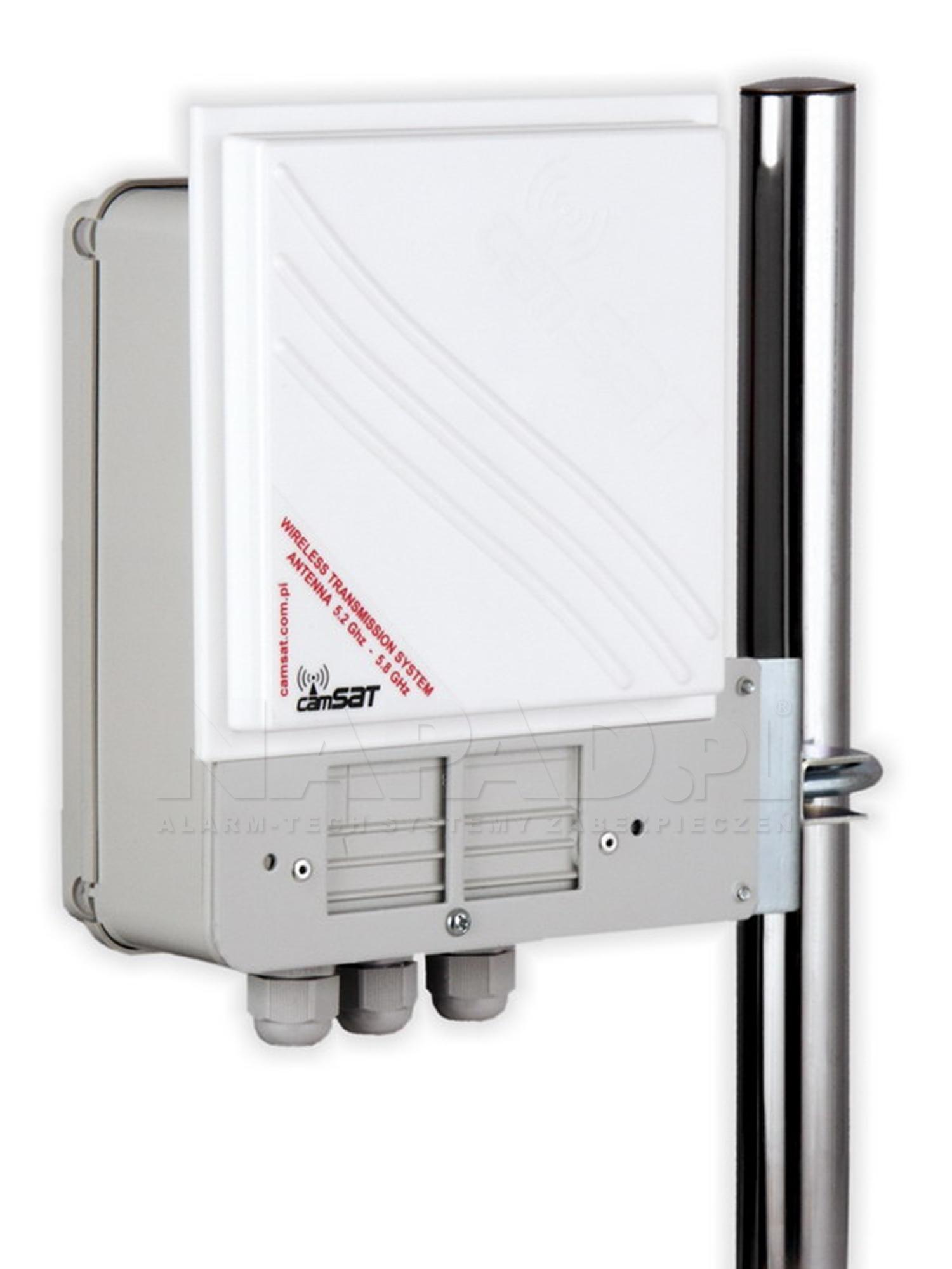 Hermetyczny cyfrowy zestaw nadawczo-odbiorczy CAMsat 5,2 GHz CDS-5021h / 2 km