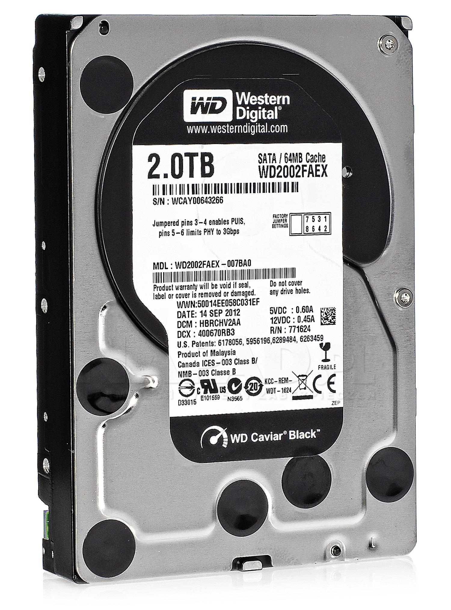 Dysk 2TB SATA III Western Digital Black