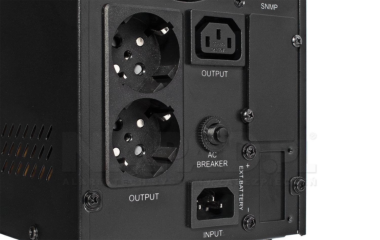 Zasilacz awaryjny UPS AT-UPS1000S-LCD wolnostojący