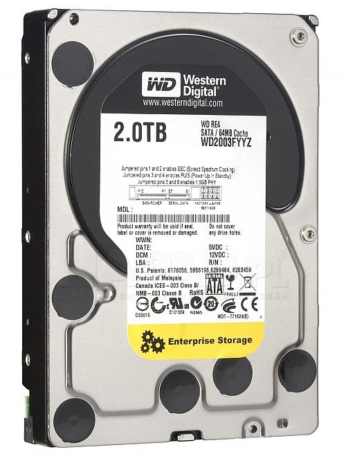 Dysk 2TB SATA III Western Digital Re
