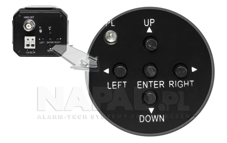 Kamera do monitoringu PX-8060-EA z menu OSD