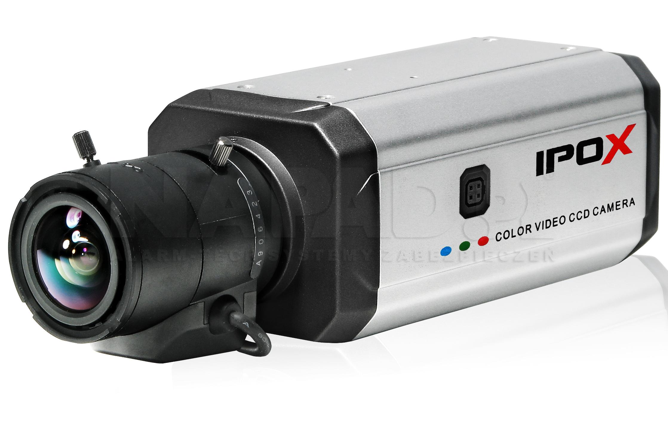 Przykład kamery IPOX z zamontowanym obiektywem