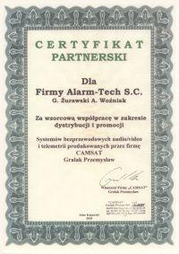 Camsat - certyfikat partnerski