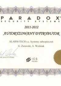 Paradox - autoryzowany dystrybutor