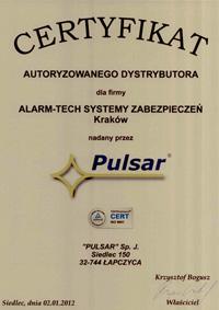 PULSAR - autoryzowany dystrybutor systemów alarmowych