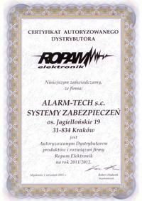 ROPAM - autoryzowany dystrybutor systemów alarmowych