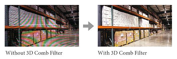 Przykładowe zastosowanie filtra grzebieniowego 3D w monitorze PM 55.