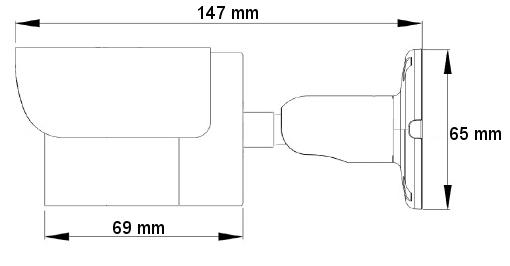 PX-TH2012 - Wymiary kamery podane w mm.