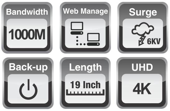 UTP7624GE - Wybrane cechy switcha L3.