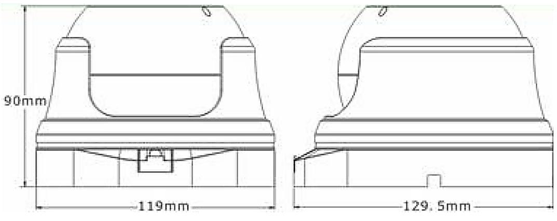 BCS-DMQE4200IR3 - Wymiary kamery podane w mm.