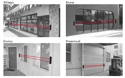 Przykładowe zastosowanie bariery BX-100Plus