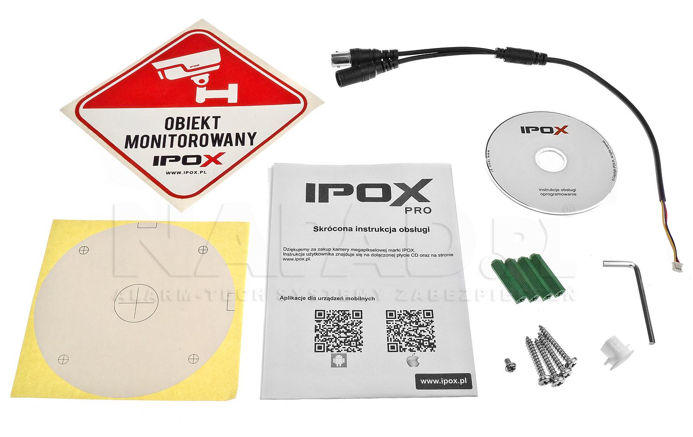 Akcesoria dostępne w zestawie z kamerą IPOX HD-2025TV.