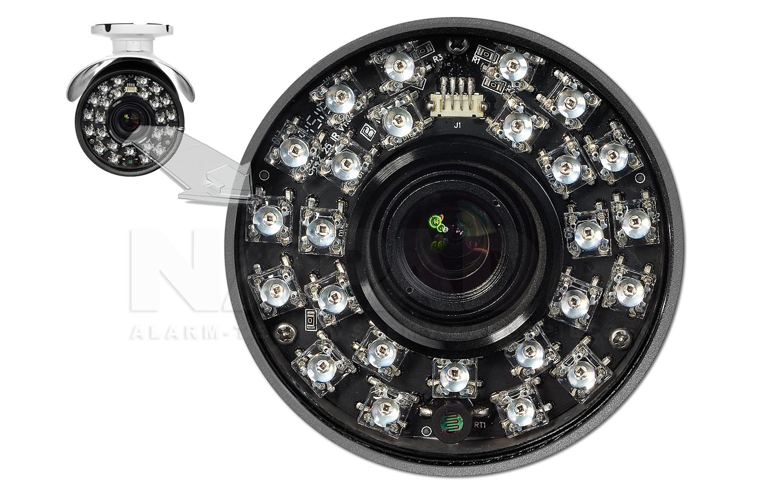 Oświetlacz podczerwieni w kamerze megapikselowej IPOX.