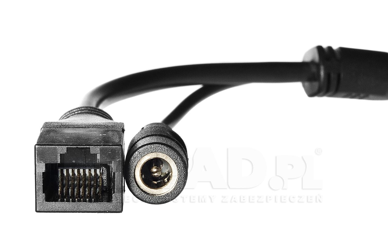 Przewody połączeniowe w kamerze megapikselowej DHD-2236DV.
