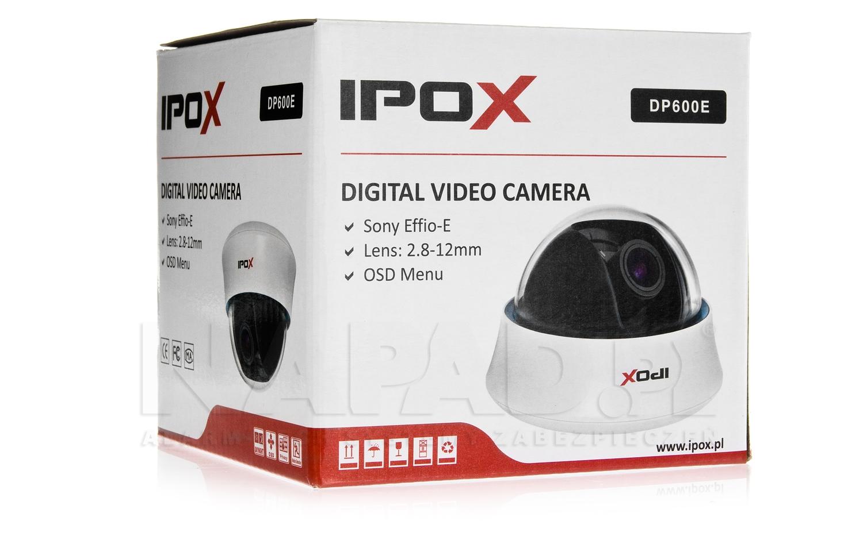Opakowanie kamery IPOX DP 600E.