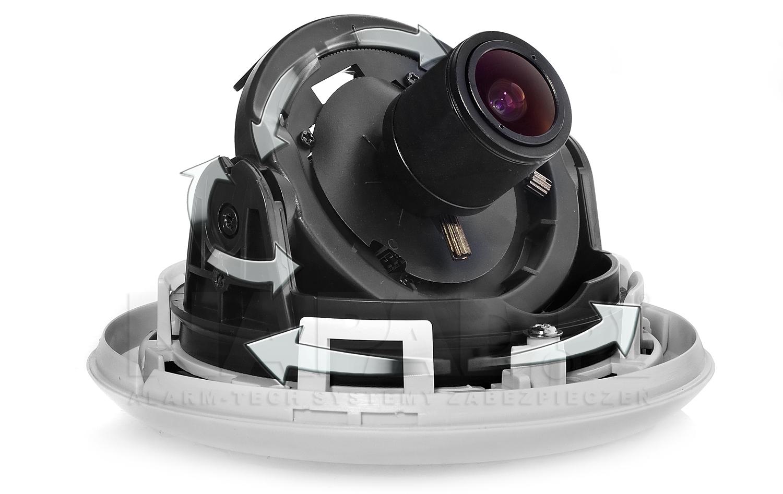Możliwości regulacji kamery IPOX DP600E.