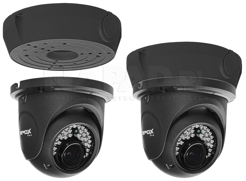 Przykład instalacji kamery IP do podstawy montażowej HD-2030.