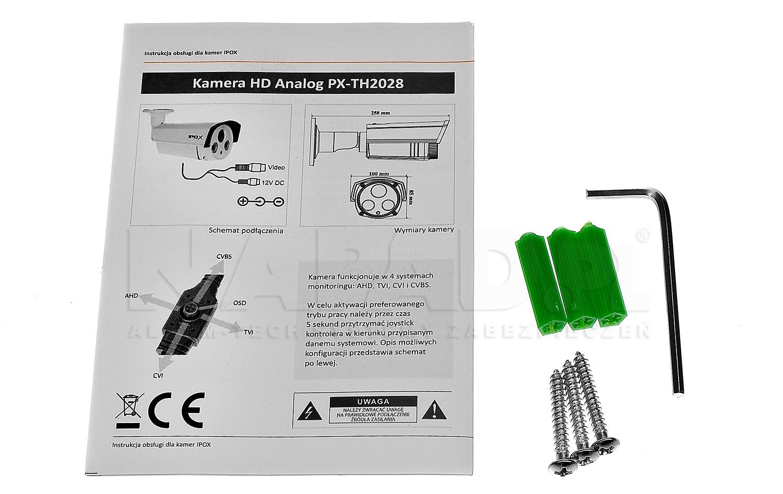 PX-TH2028 - Akcesoria dostępne z kamerą.