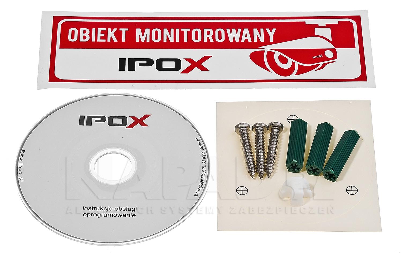 PX-TI2030-P - Akcesoria znajdujące się w zestawie z kamerą.