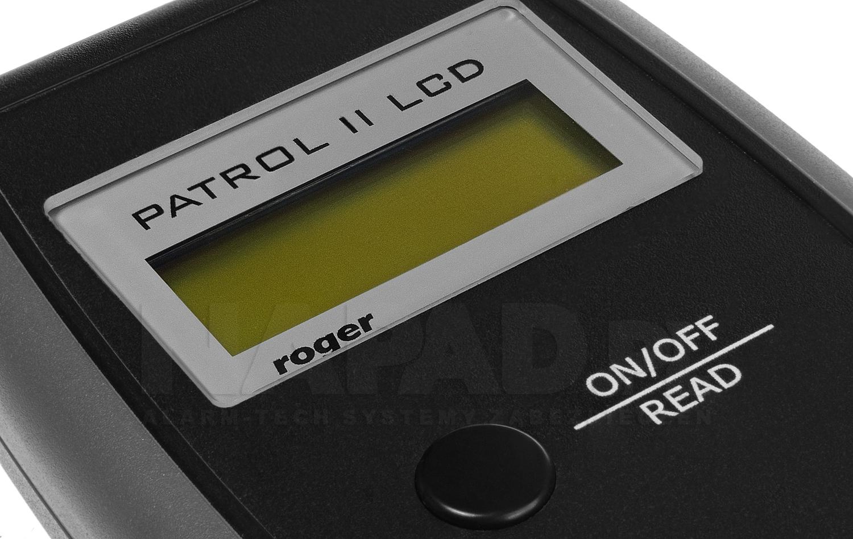 Wyświetlacz przenośnego czytnika zbliżeniowego Patrol II LCD.
