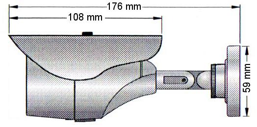 PX-TH2018 - Wymiary kamery podane w mm.