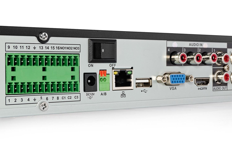 Cyfrowy rejestrator HD-CVI BCS-CVR1602 III z obsługą alarmu.
