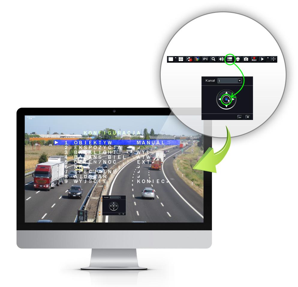 Zdalny dostęp do menu OSD kamer w rejestratorach AHD IPOX