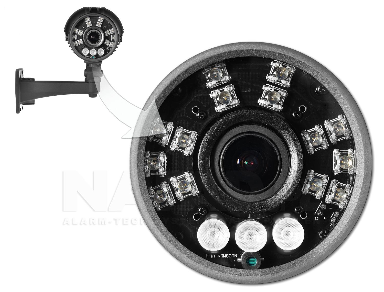 Kamera AHD z diodami Pirahna i Array