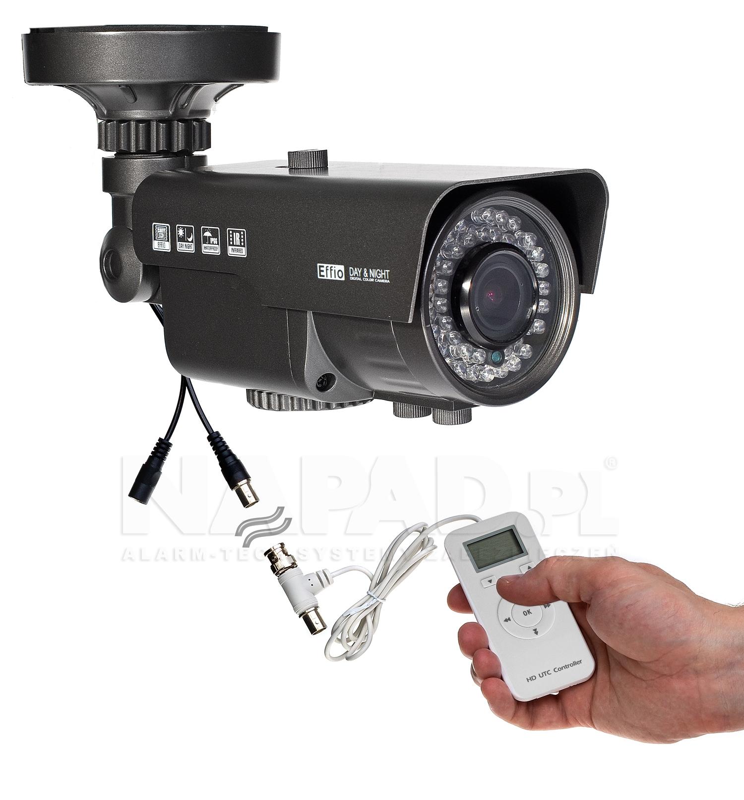 Przykładowe podłączenie kontrolera UTC-AHD do kamery przemysłowej