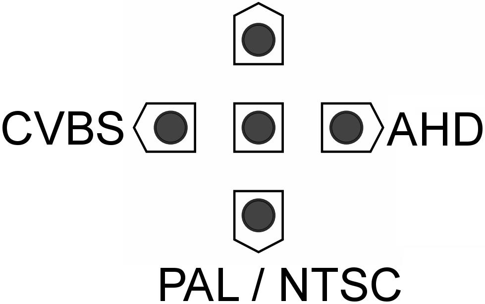 PX-BH2000 - Funkcjonowanie przycisków na wyjściu AHD.