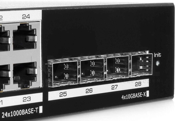 UTP7624GE - Porty Uplink 10GBASE-X w switchu IPOX.