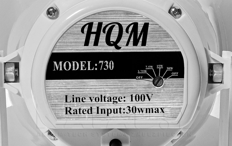 Regulacja mocy wyjściowej głośnika tubowego HQM730.
