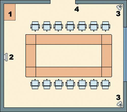System nagłośnienia PA w sali konferencyjnej.