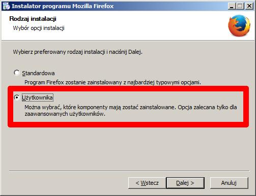Mozilla Firefox ESR - instalacja