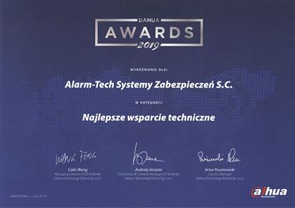 Najlepsze wsparcie techniczne - Nagroda Dahua dla NAPAD.PL