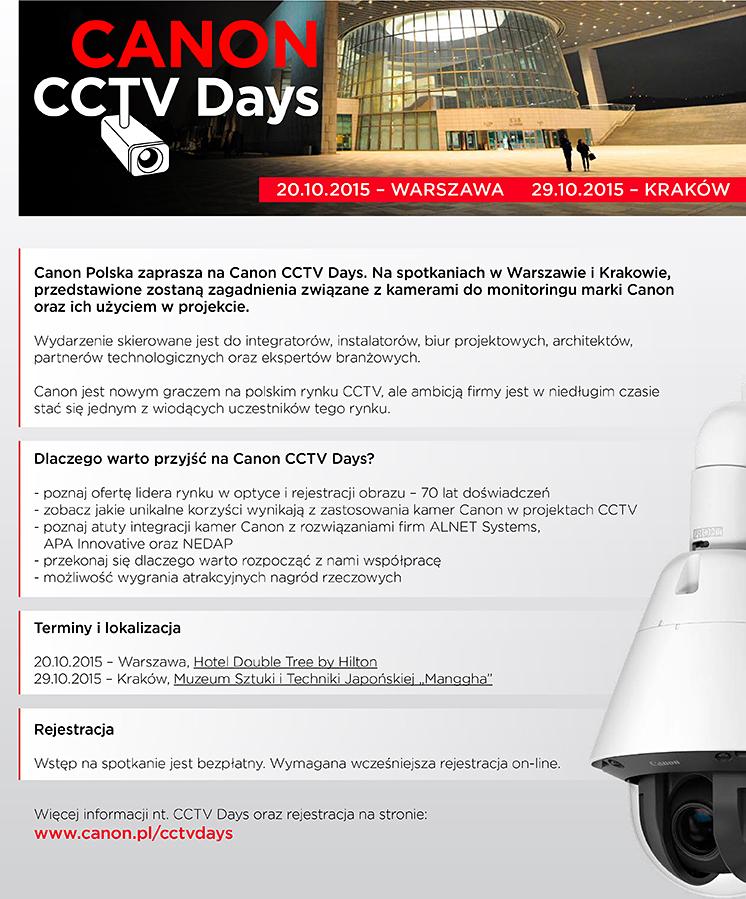 Canon CCTV Days