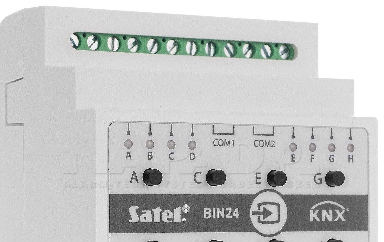 Uniwersalny moduł wejść binarnych KNX-BIN24