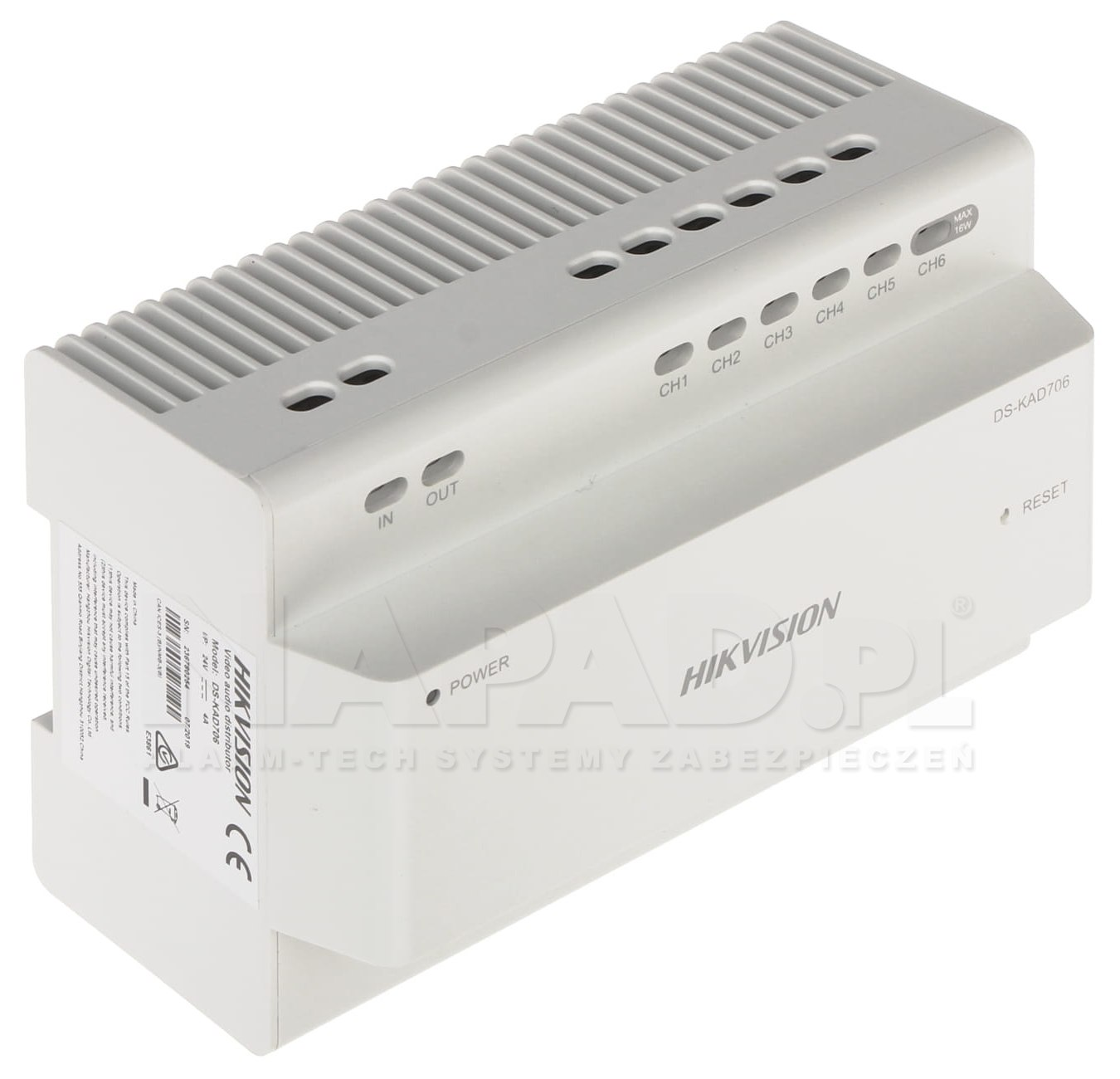 Dystrybutor interkomowy audio/wideo DS-KAD706