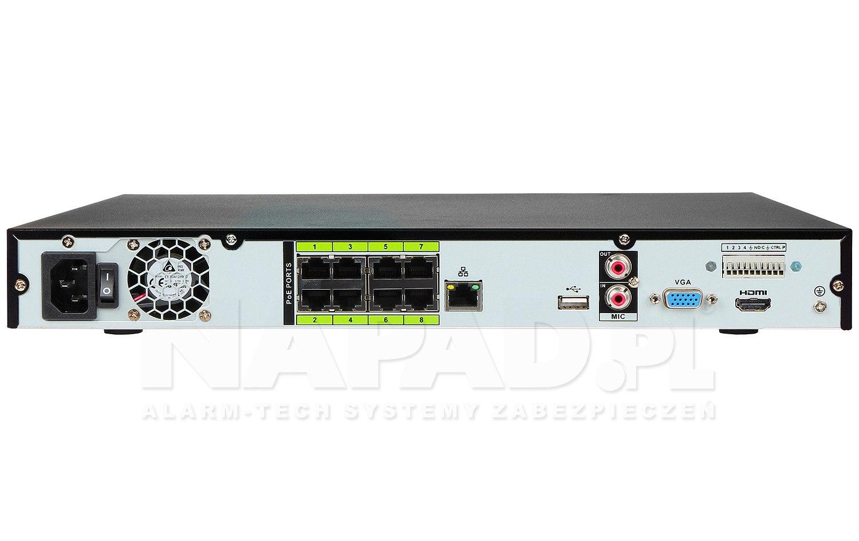 Rejestrator sieciowy AI DHI-NVR4208-8P-I