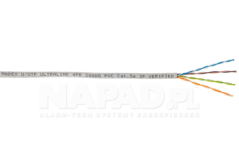 Kabel LAN U/UTP kat.5e Madex Ultralink