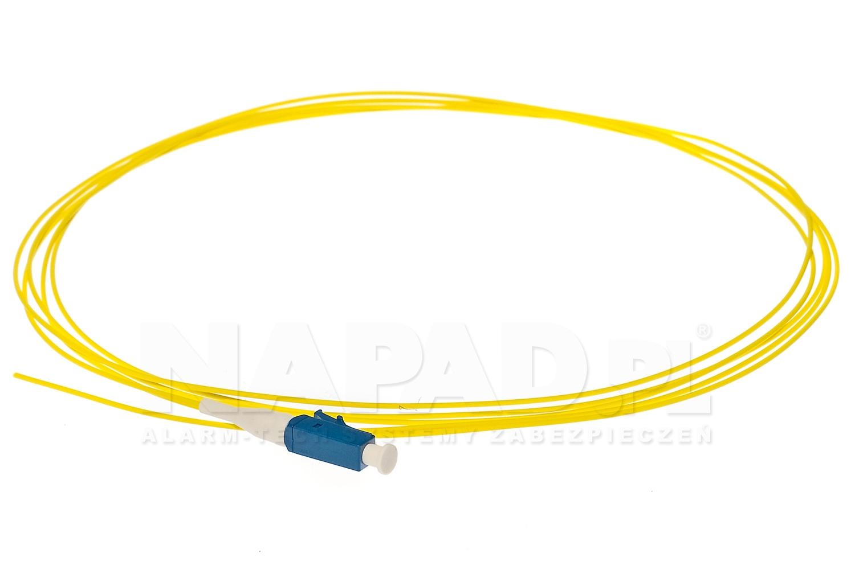 Pigtail optyczny jednomodowy LC SM 9/125 1m