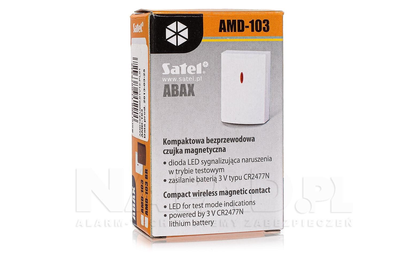 ABAX bezprzewodowa czujka magnetyczna AMD-103 SATEL