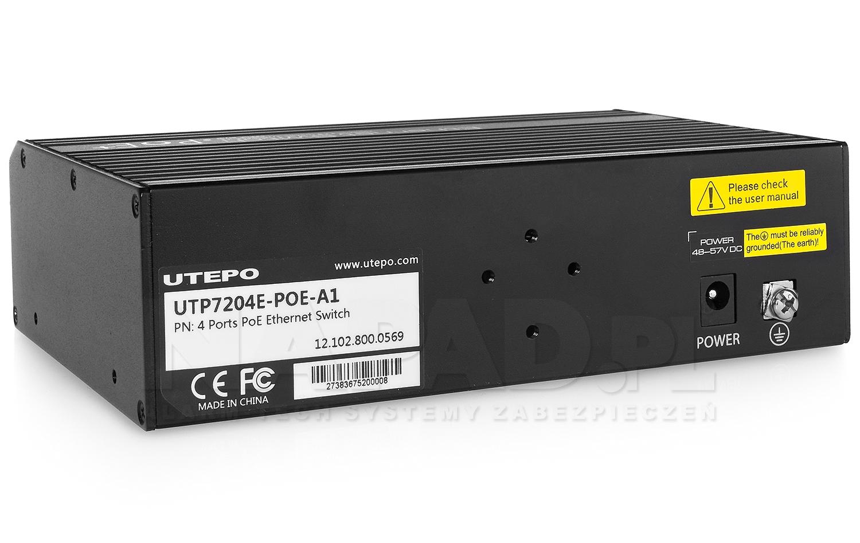 Switch 4-portowy SW204E-POE-A1