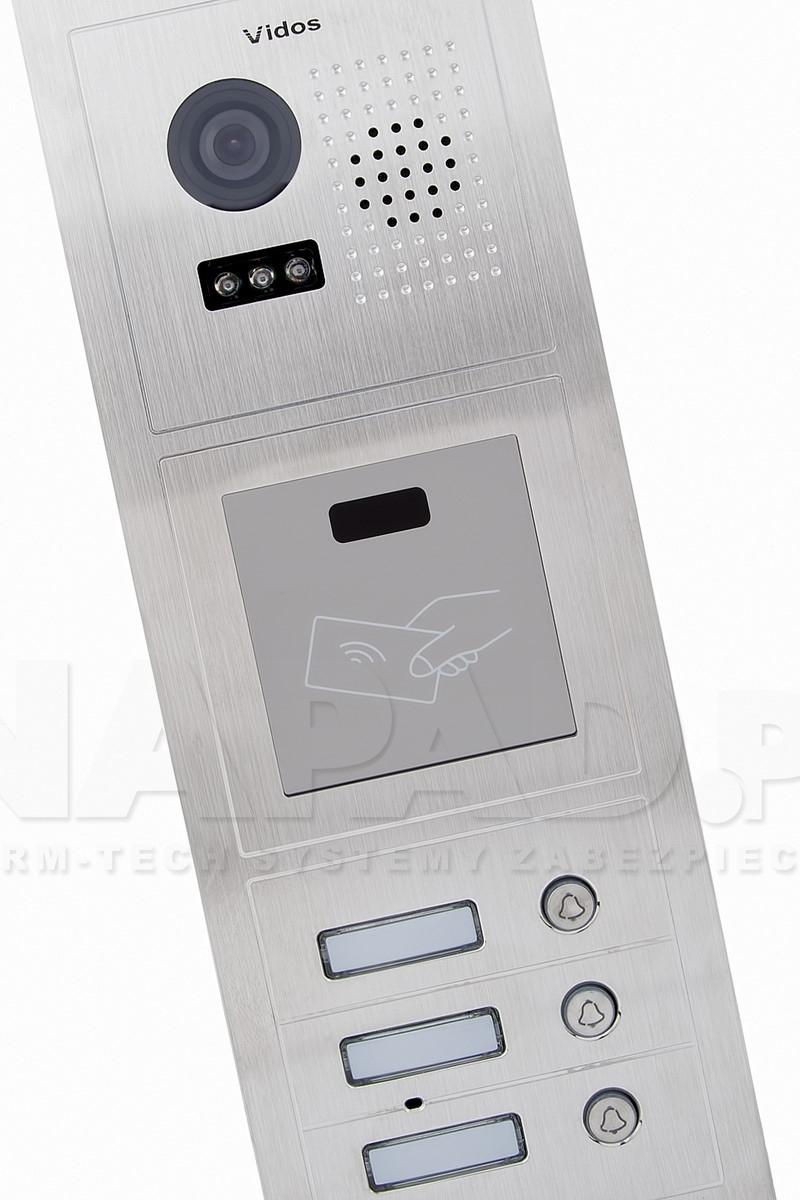 S603A-2 - Trzyabonentowa stacja bramowa z kamerą i czytnikiem RFID