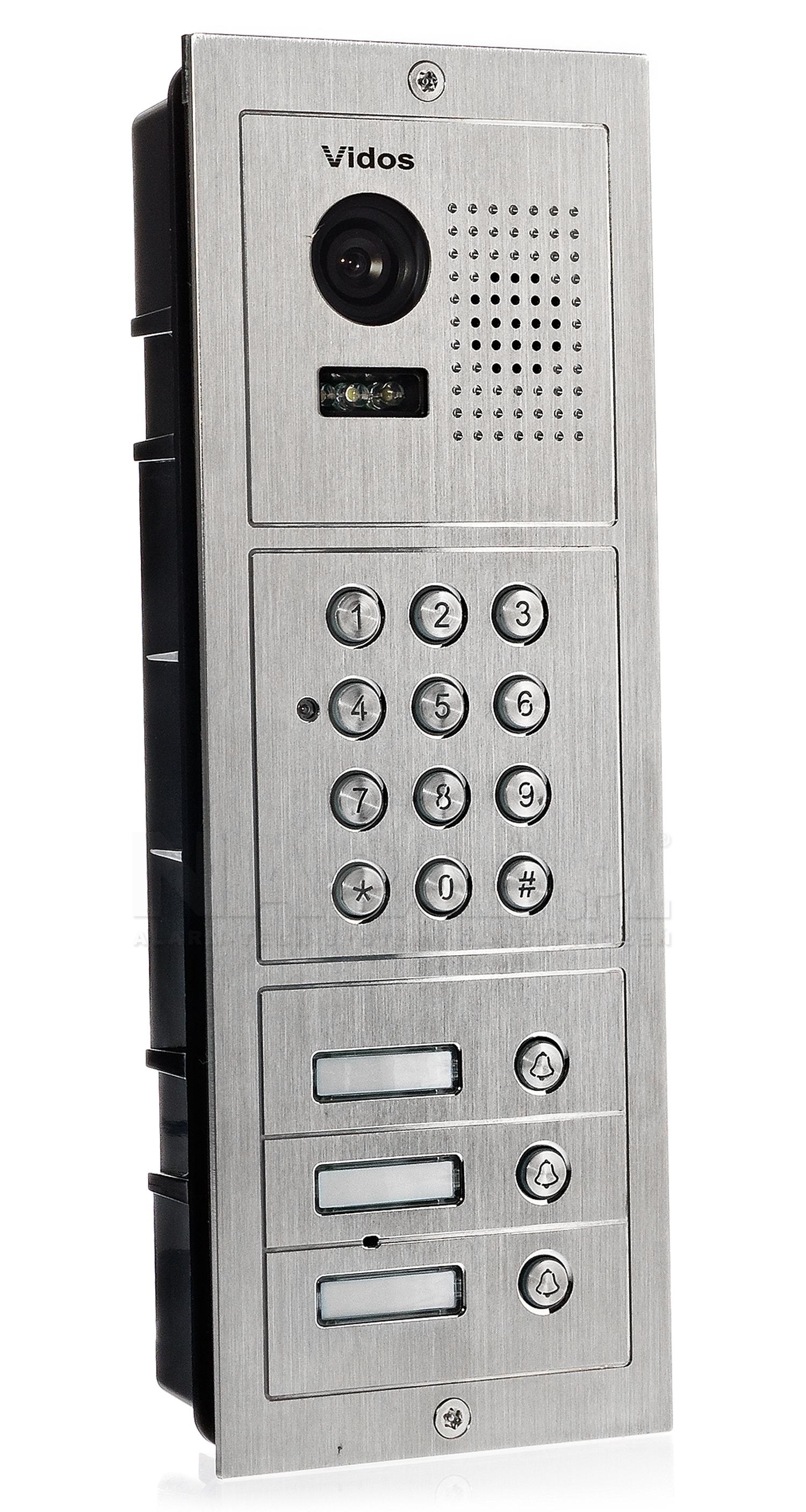 S603D-2 - Trzyabonentowa stacja bramowa z kamerą i zamkiem szyfrowym