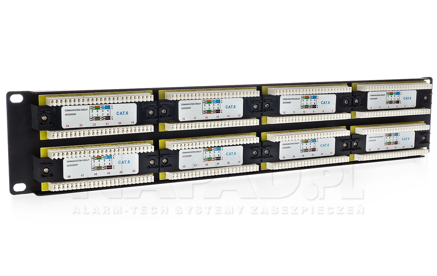 Patch panel 48-portów UTP6 19
