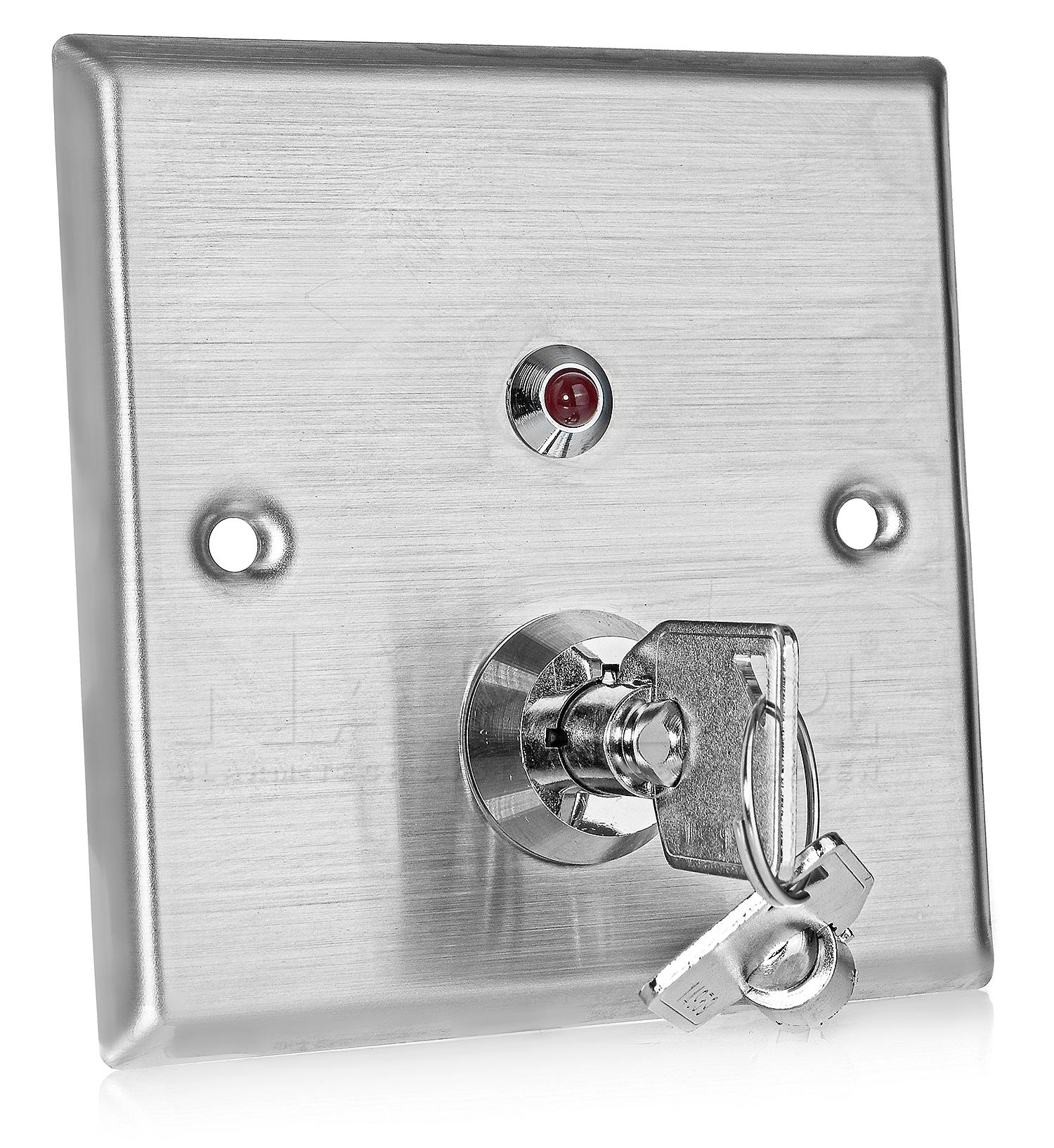 Metalowy przełącznik kluczowy KS-1N