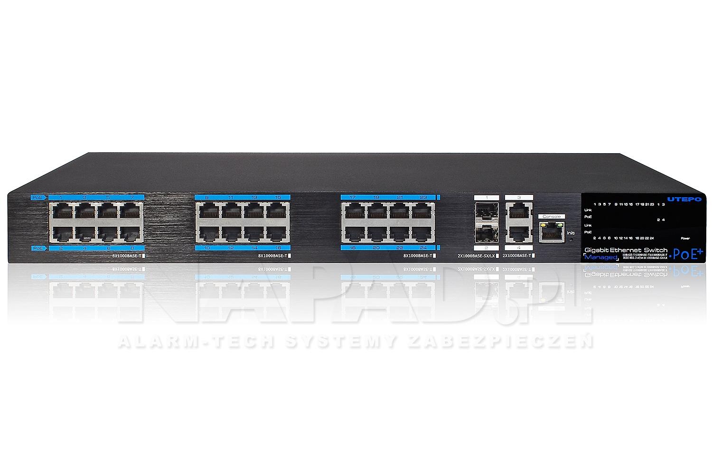 Gigabitowy switch 24-portowy UTP7524GE-POE-A1