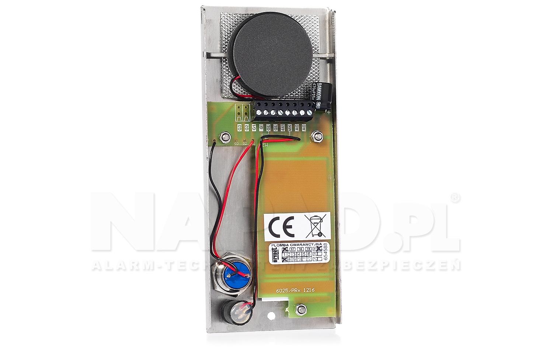 Płyta domofonowa z 1 przyciskiem ELITE 6025/PR1