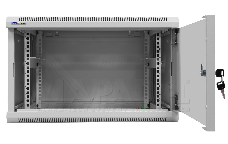 Szafa Rack 19'' 6U 600mm wisząca W6606